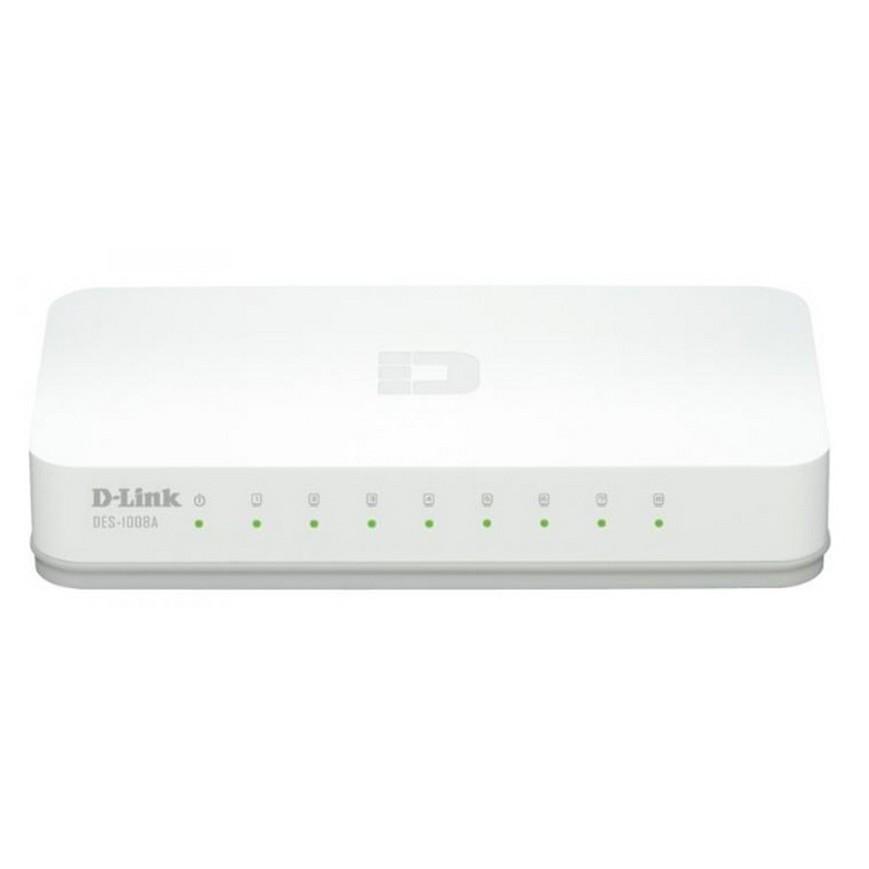 友訊 D-Link DES-1008A 8埠10/100BASE-TX桌上型乙太網路交換器 轉接器