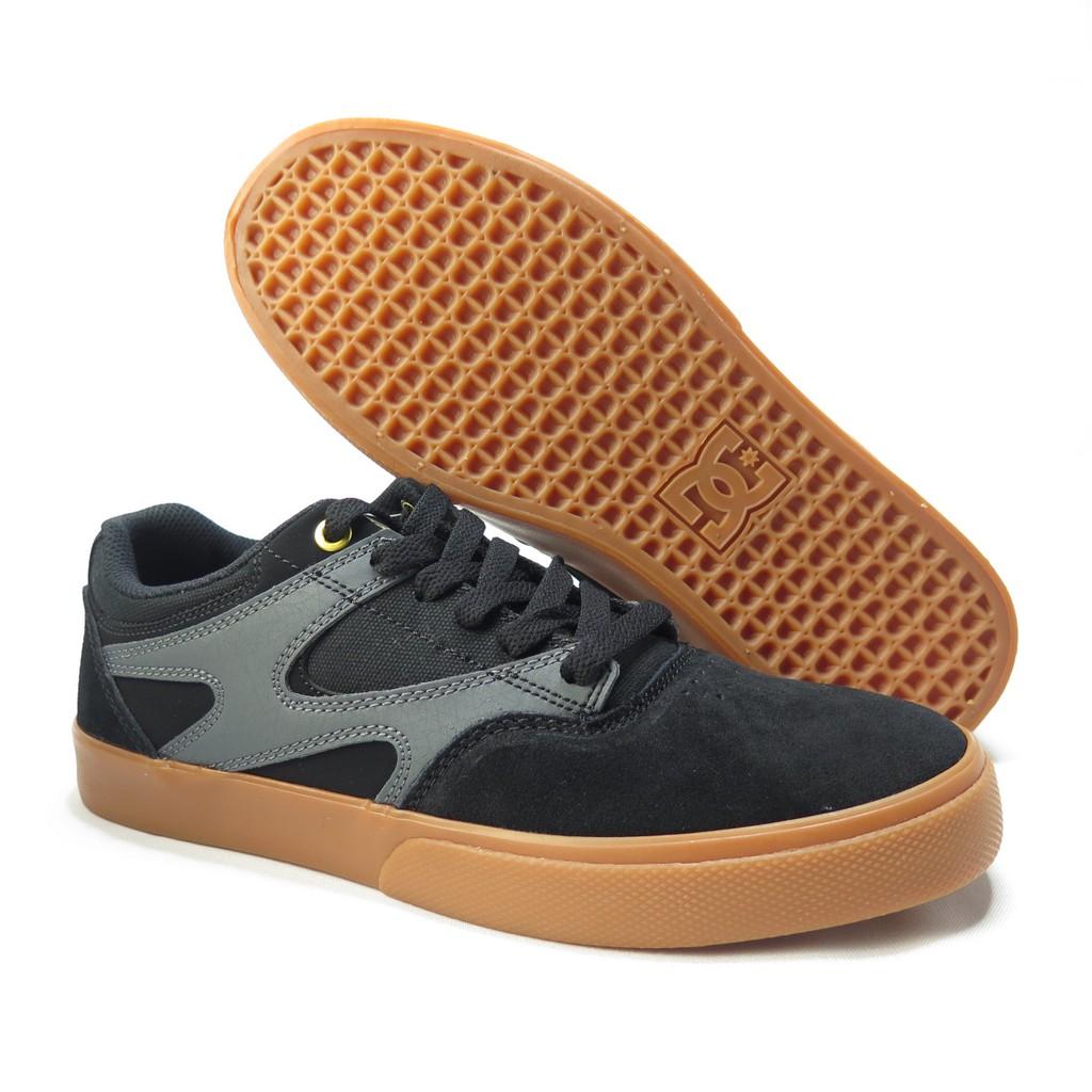 DC KALIS VULC 滑板鞋 休閒鞋 公司貨 300569BLG 男款 黑x焦糖底【iSport愛運動】