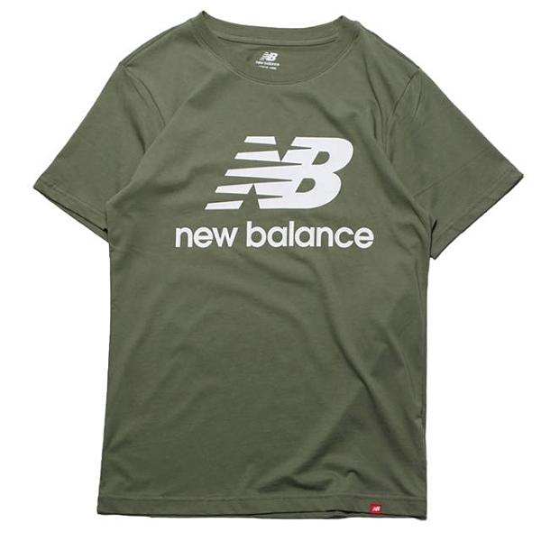 NEW BALANCE 運動短袖 短T 抹茶綠 大LOGO 燙印 休閒 男 (布魯克林) AMT01575CEL