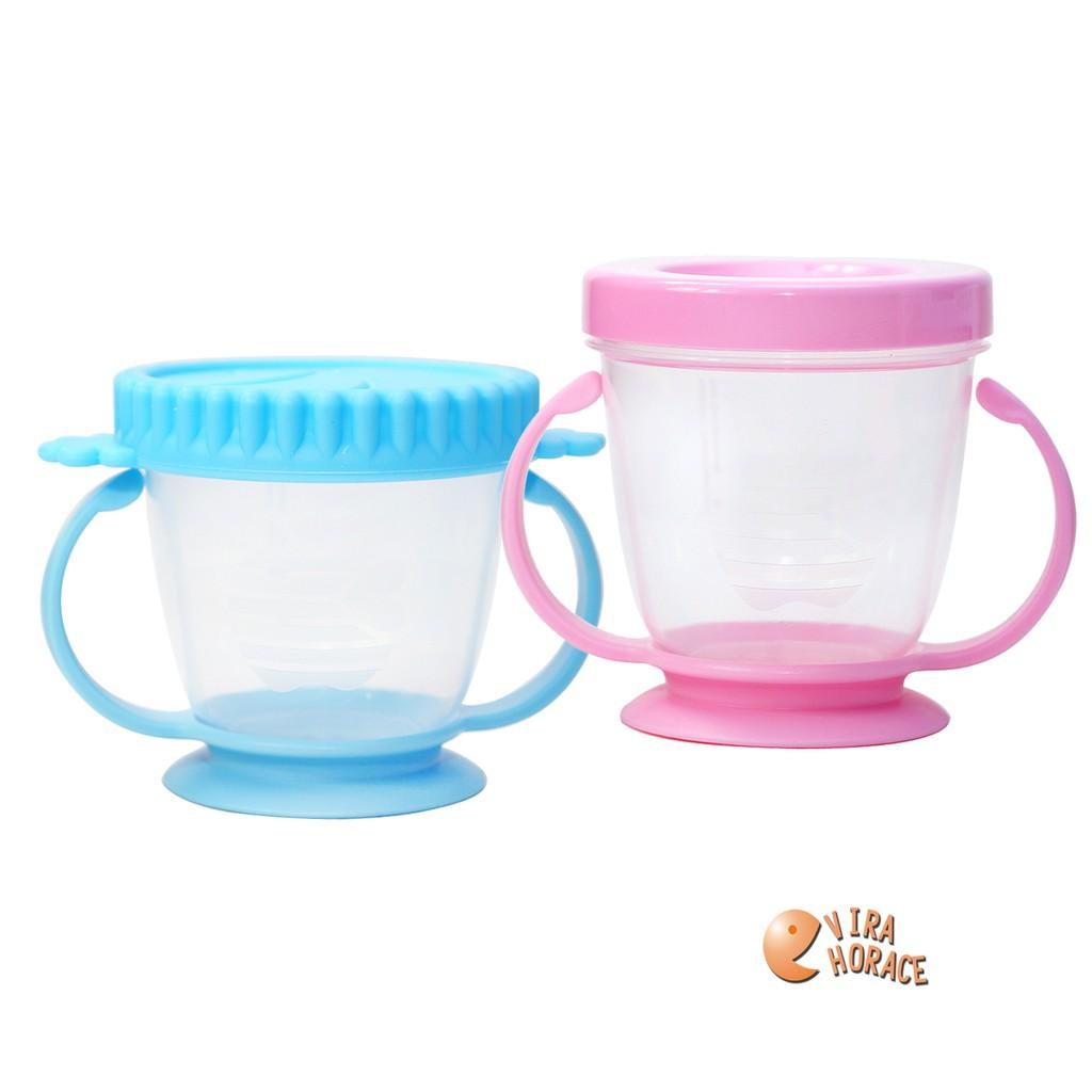 Smart 朴蜜兒防漏零食杯,寶寶吃零食不怕屑屑掉滿地嘍! 附密封上蓋,可微波、可儲存副食品,一物多用途