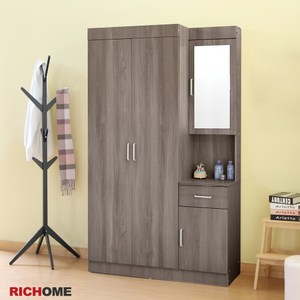 【RICHOME】愛麗絲套房衣櫥櫃白橡色