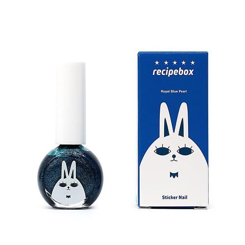 recipebox兒童水性可撕式指甲油(寶藍色-加珠光)10ml 日華好物 韓國樂天熱銷