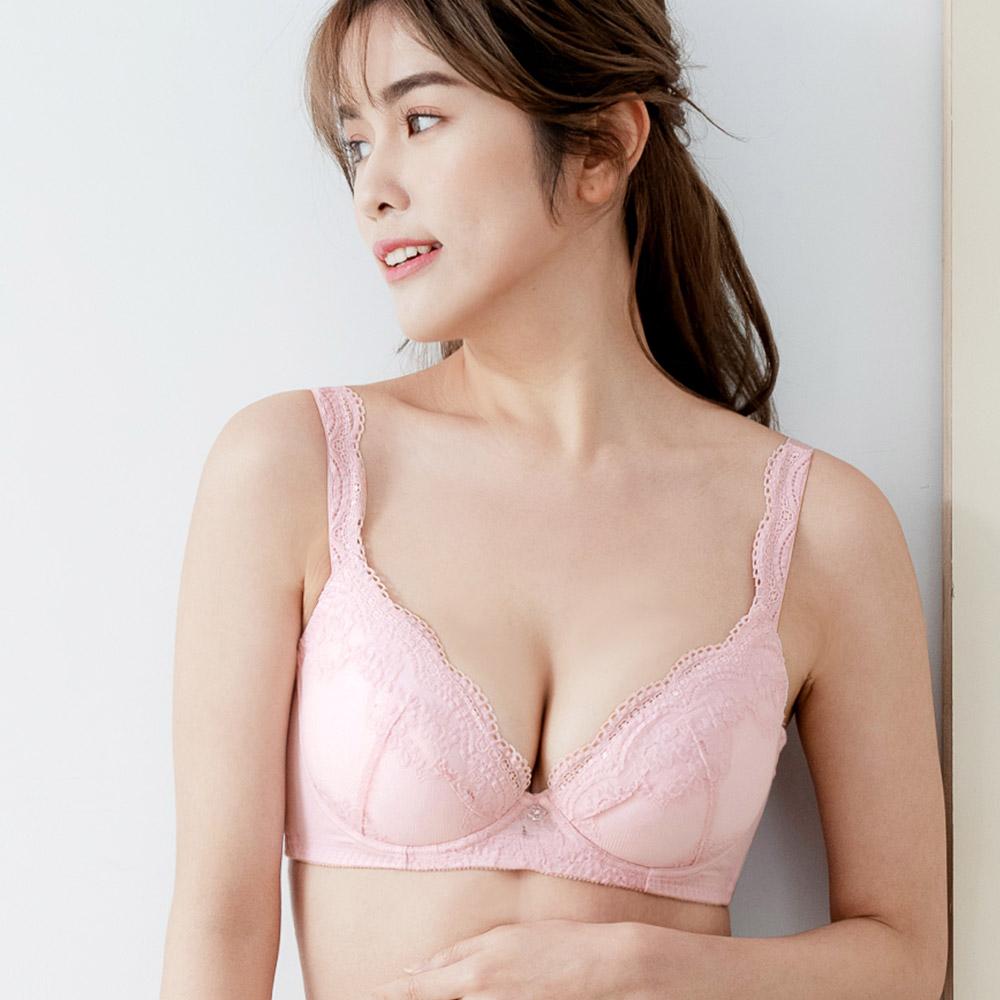 綿花恬心 機能包覆內衣 粉色( B-D )