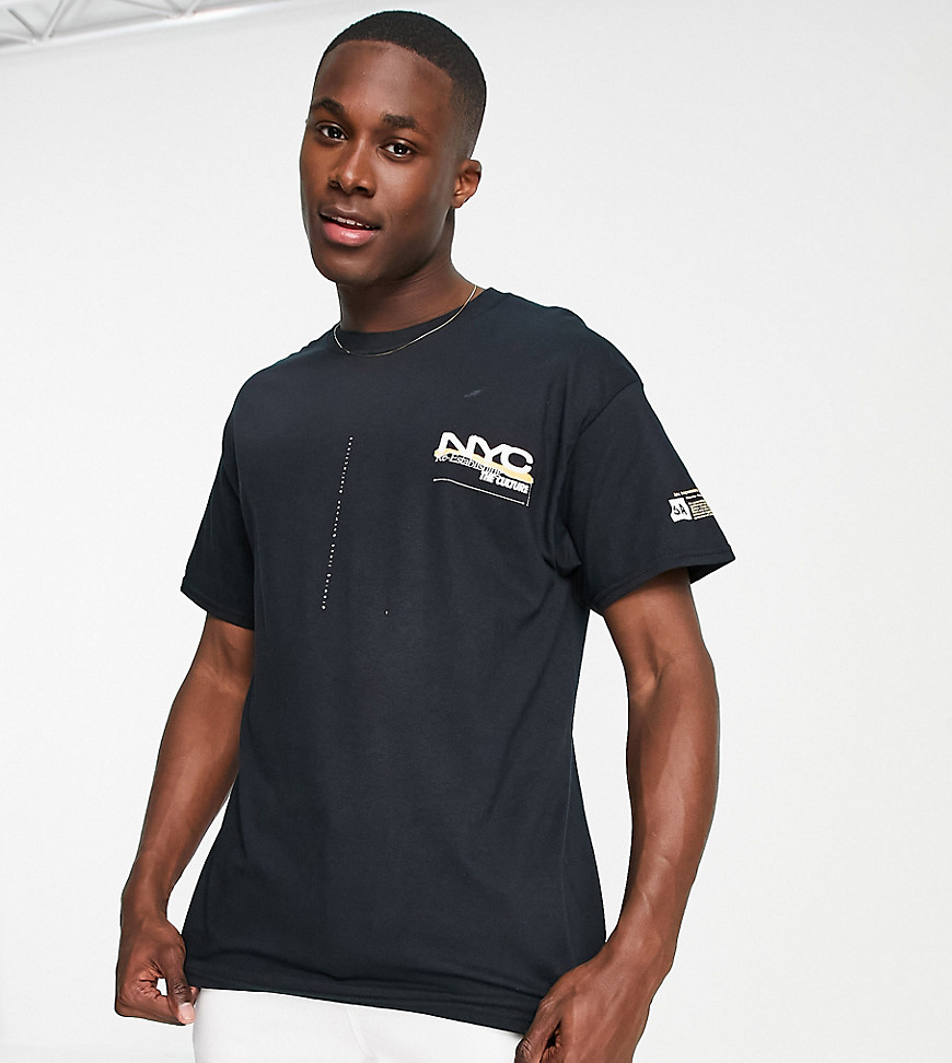 New Look oversized NYC print t-shirt in black