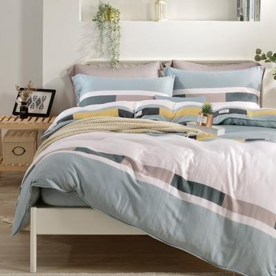 Saint Rose 熱活青春 雙人100%純天絲枕套床包三件組