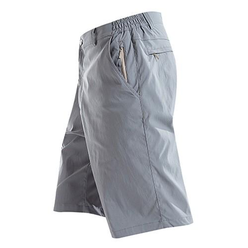 瑞多仕 DA3345  男彈性快乾短褲(側直拉鍊)  雲靄灰色