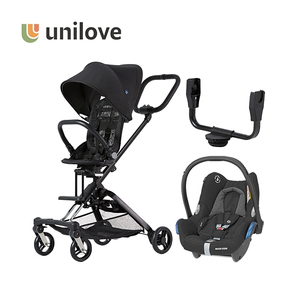 unilove 美國On The Go馬奇車/成長型輕便推車 新生兒大全套模式 (提籃+結合器+車架+座椅)