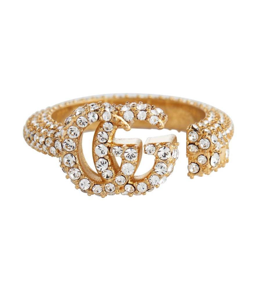 Double G embellished ring