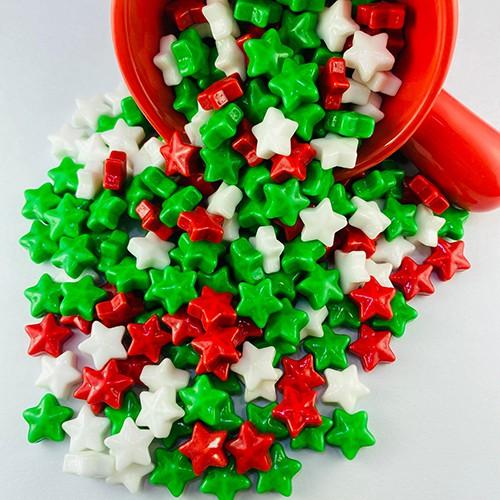 嘗甜頭 聖誕星水果糖 紅綠白水果糖 200公克 薑餅屋材料 水果硬糖 聖誕節糖果 現貨