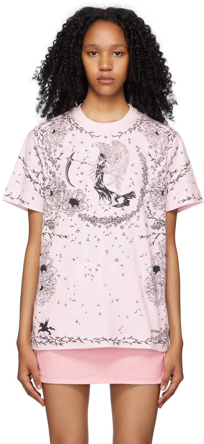 Givenchy 粉色 Gothic T 恤