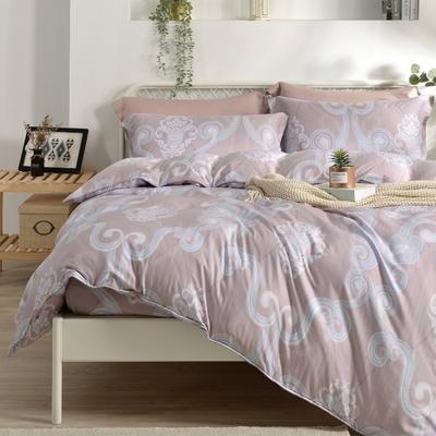 Saint Rose 優雅摩登 雙人100%純天絲枕套床包三件組