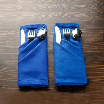 【618全店慶 全館5折起-生活工場】深海藍餐巾2入組50*50cm