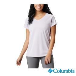 Columbia 哥倫比亞 女款 - UPF30涼感快排短袖上衣-紫色 UAR69140PL