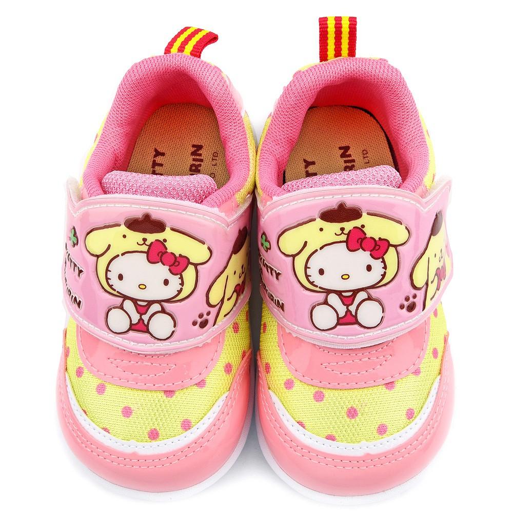 鞋次方 Kittyx布丁狗聯名款小清新圓點輕量動鞋 中童 KT7180