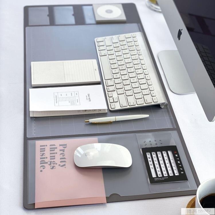辦公桌墊ins復古商務超大號 電腦滑鼠墊家用防水多功能寢室寫字墊 麥田印象