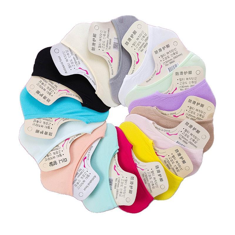 大唐襪業 D353糖果襪 天鵝絨隱形襪短襪 矽膠防滑襪子 魔術棉襪