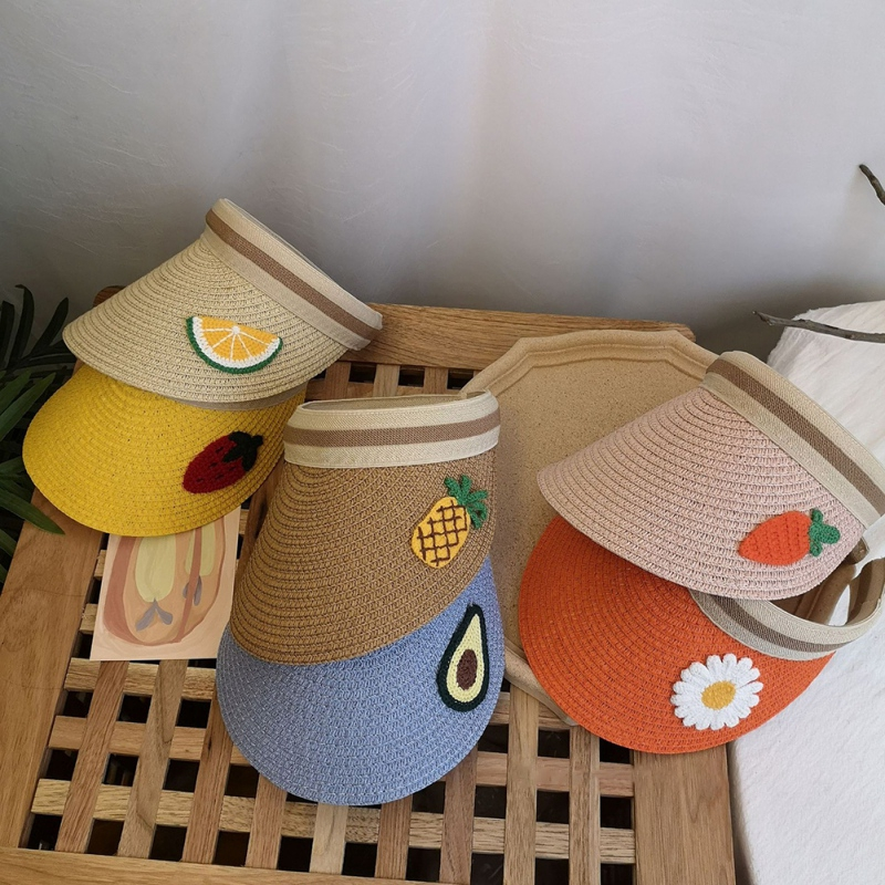 夏季兒童帽子 女童薄款大帽簷防曬遮陽帽 日系沙灘空頂帽【IU貝嬰屋】