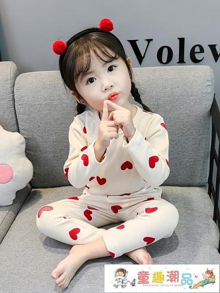 兒童睡衣 兒童春秋純棉薄款長袖公主女小童寶寶秋衣秋褲套裝女童家居服 童趣