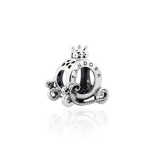 Pandora 潘朵拉 皇冠O型標誌馬車 純銀墜飾 串珠 798323
