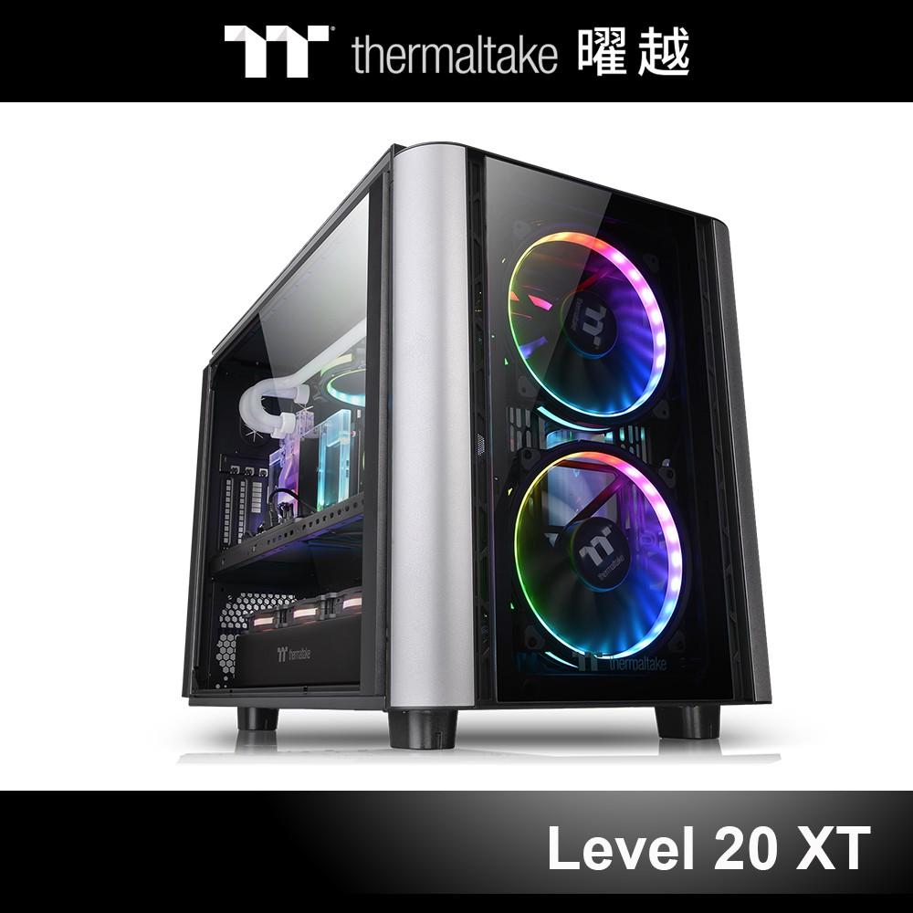 曜越 Level 20 XT E-ATX 強化玻璃 平躺式 側透 機殼 CA-1L1-00F1WN-00