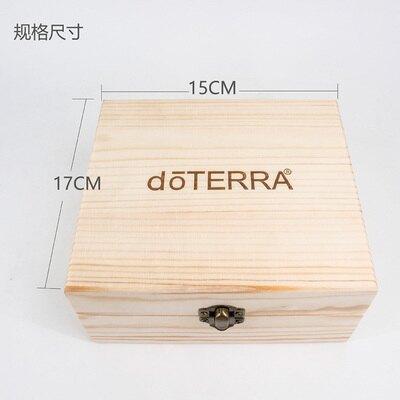 精油盒 天然松木12+1格精油收納木盒 收納盒椰子油展示盒 帶LOGO『xxs19163』