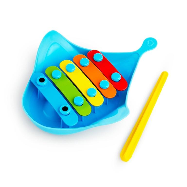 美國 munchkin 魟魚手敲琴洗澡玩具