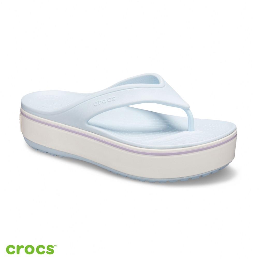 Crocs卡駱馳 (中性鞋) 厚底卡駱班人字拖-205681-4JR