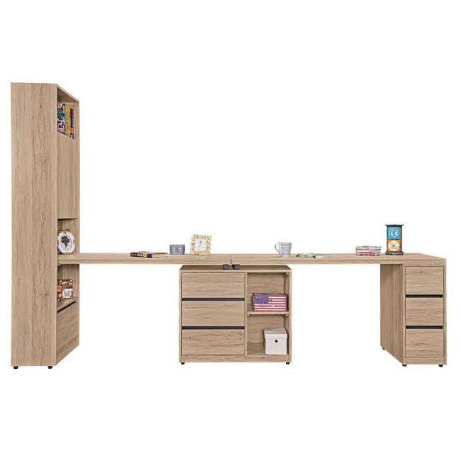【GB522-6】祖克柏9.9尺雙人組合書桌櫃(全組