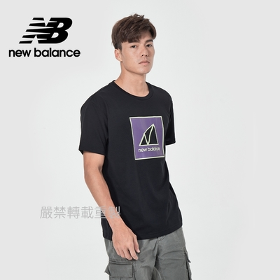 【New Balance】戶外系列短袖T_男性_黑色_AMT11585BK