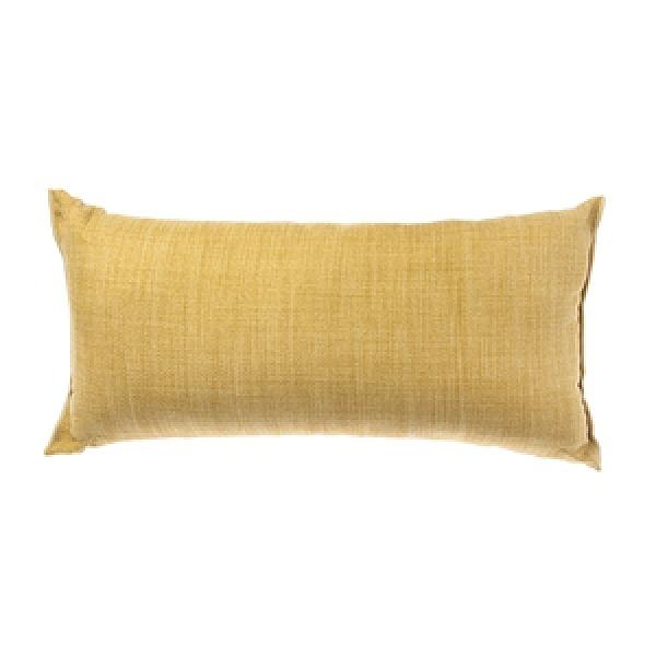 HOLA 素色雅韻織紋抱枕30X60CM-芥末黃