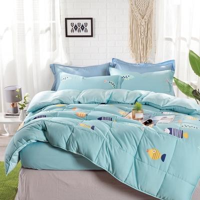 Saint Rose 熱帶魚 雙人100%純天絲枕套床包三件組