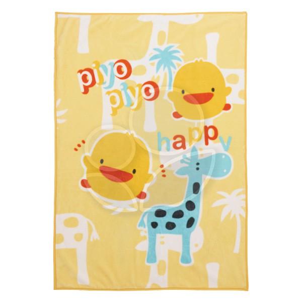 Piyo 黃色小鴨 雙層加大印花童毯【附提袋】【佳兒園婦幼館】