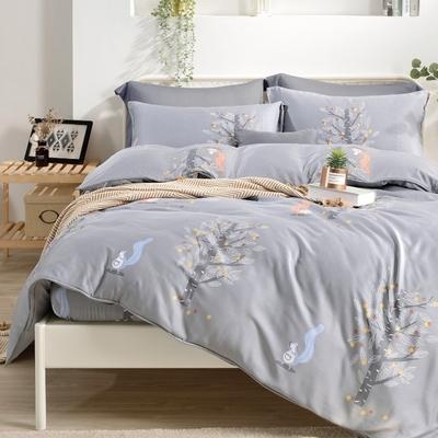Saint Rose 葉影絮語 雙人100%純天絲枕套床包三件組