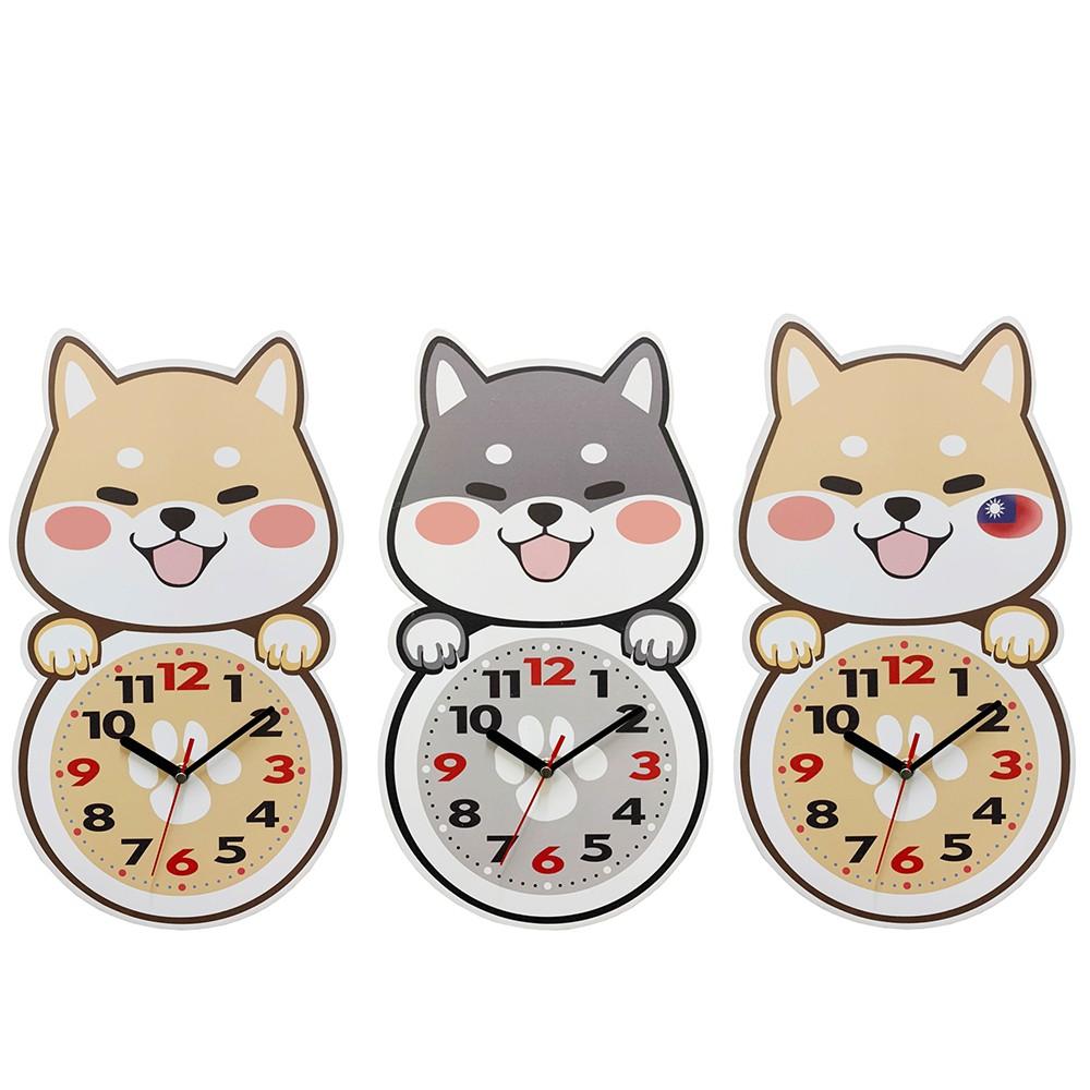 德愛 微笑柴犬靜音掛鐘 時鐘 數字鐘 柴犬 貓頭鷹 貓咪系列