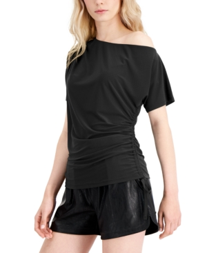 Inc Side-Ruched One-Shoulder Top, Created for Macy's