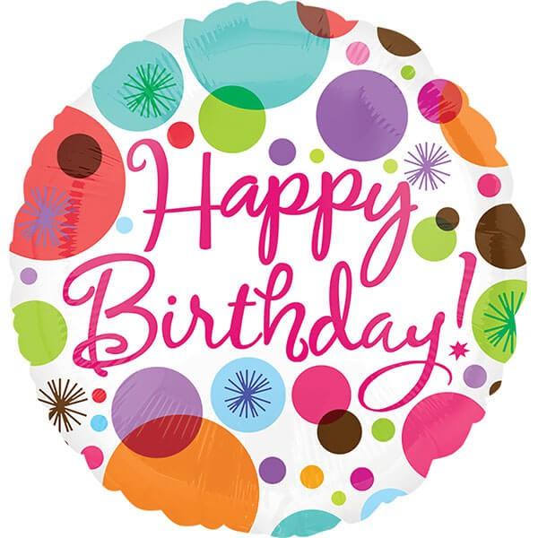 派對城 現貨 【18吋鋁箔氣球(不含氣)-生日快樂】 歐美派對 生日氣球 鋁箔氣球  派對佈置 拍攝道具