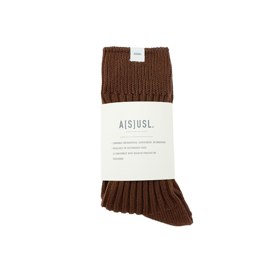 【GIANT MALL】asusl SS21 SIGNATURE SOCKS-BROWN LOGO布標長襪-咖啡色