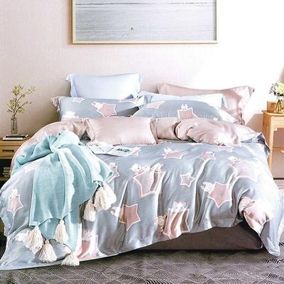 Saint Rose頂級精緻100%天絲兩用被床包組(包覆高度35CM)-星月熊 雙人