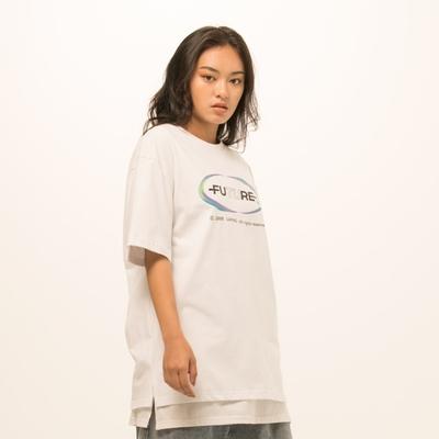 LAKING-漸層珍珠蔥印花短T
