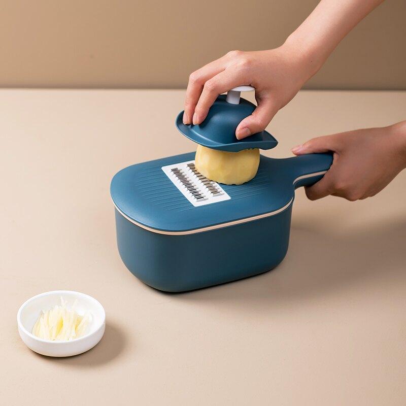 【免運】刨絲器 多功能 切絲器 廚房神器 磨泥器 切片器 削皮器 切菜器 瀝水盒