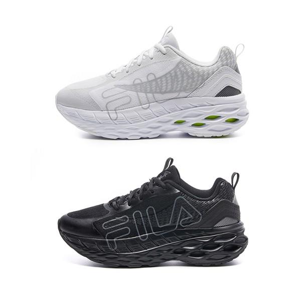 【FILA】FILA HIVE 慢跑鞋 運動鞋 厚底 全黑/白 男女鞋 -4-J031V-004 4-J031V-100