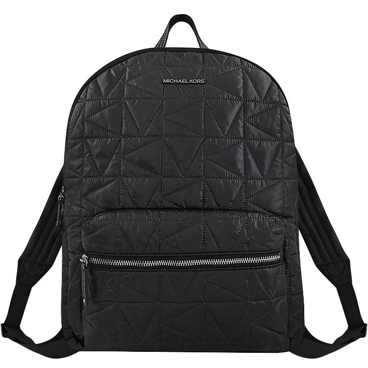 MICHAEL KORS Winnie 黑色立體浮雕輕量尼龍後背包-大型