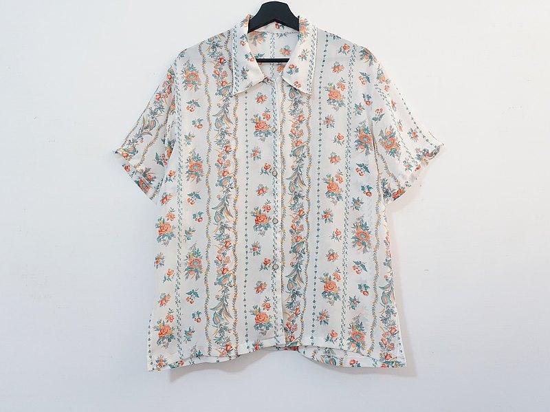 Awhile一時 | Vintage 短袖襯衫 no.416