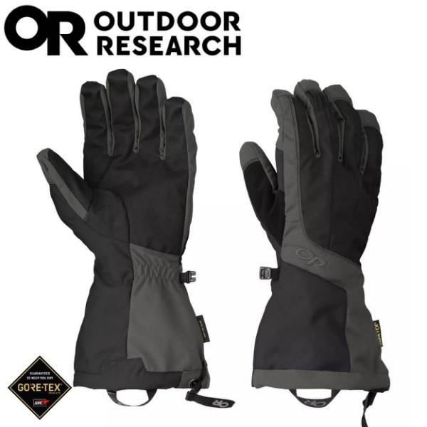 【Outdoor Research 美國 男 ARETE Gore-Tex防水手套《黑/碳灰》】271615//悠遊山水