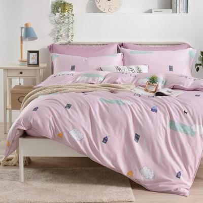 Saint Rose 童話情緣 雙人100%純天絲枕套床包三件組