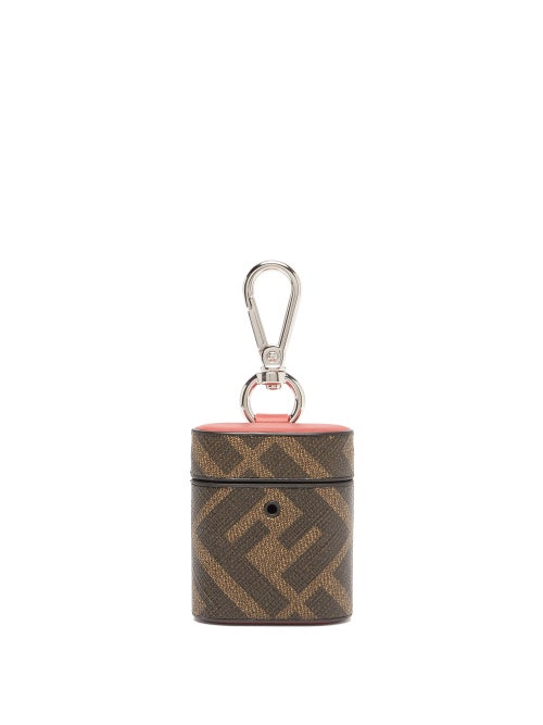 Fendi - Ff-print Coated-canvas Airpods Case - Mens - Brown