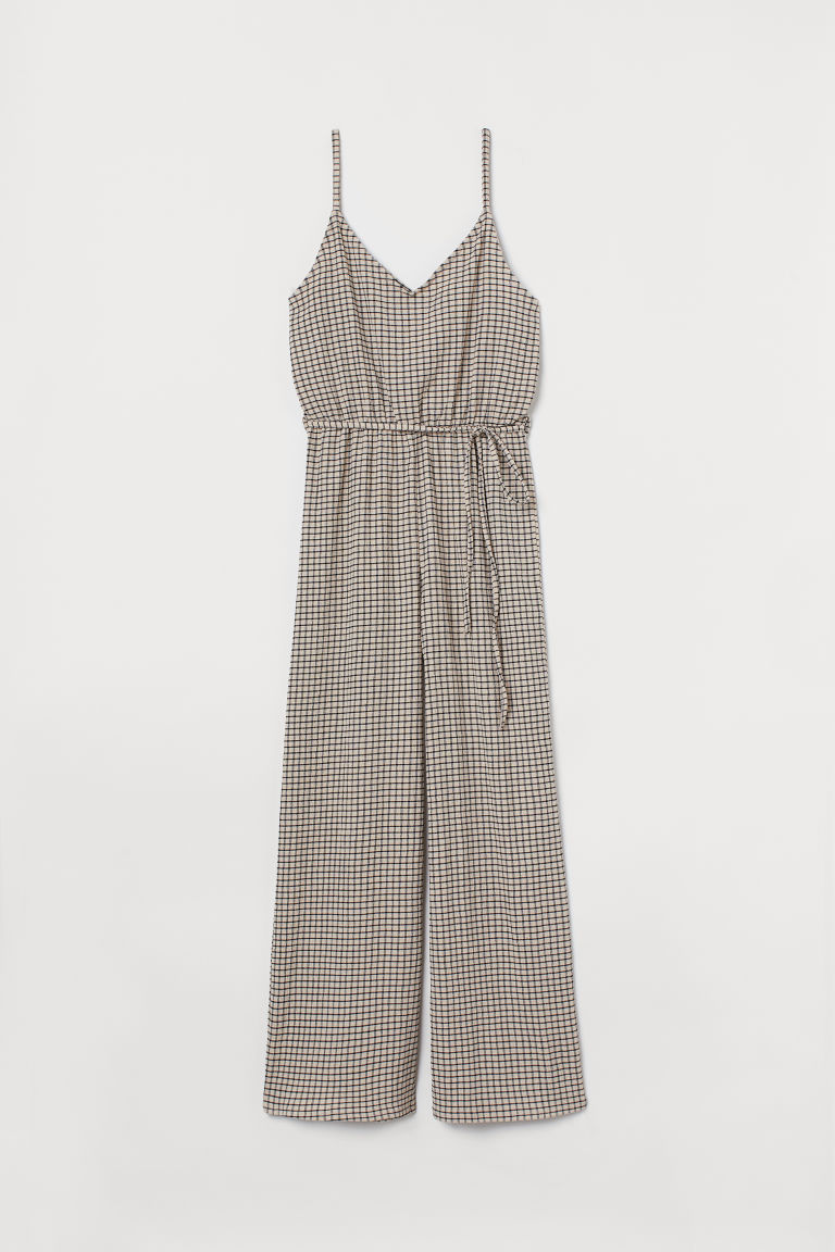 H & M - 九分連身褲裝 - 白色