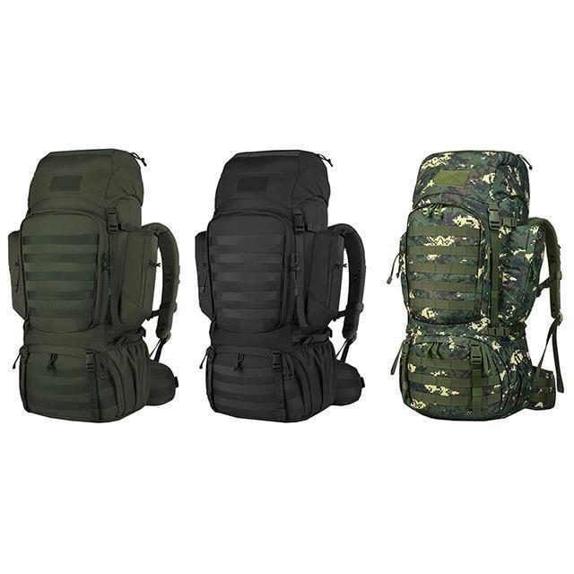 後背包超大容量60L附雨罩出水孔胸前釦+安全哨高單防水尼龍布可放A4資夾