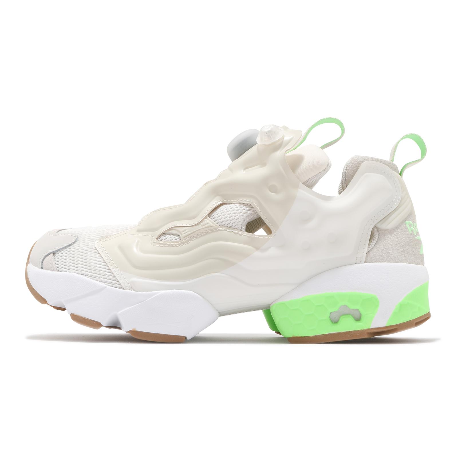 Reebok 休閒鞋 Instapump Fury OG 米白 螢光綠 充氣 女鞋 運動鞋 【ACS】 FZ0665