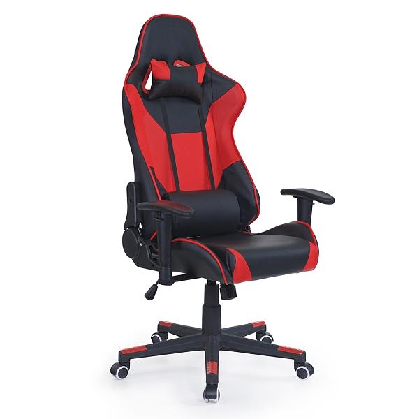 賽車椅/辦公椅/高背椅/電競椅/可後仰/升降扶手/紅黑色/H&D東稻家居